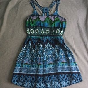 Strappy Boho Skater dress NWOT Tilly's